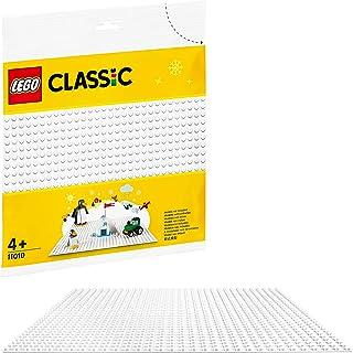 "LEGO11010ClassicBaseplateWhite10""x10""/25cmx25cmforWinterSetsConstructionBase"