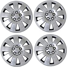 Tuningpros WC3-16-721-S - Pack of 4 Hubcaps - 16-Inches Style 721 Snap-On (Pop-On) Type Metallic Silver Wheel Covers Hub-caps