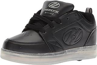 Heelys Kids' Premium Lo Wheeled Heel Shoe, Black, Size 7 M US Little Kid US