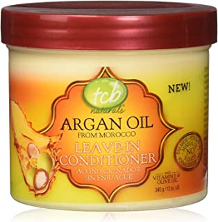 TCB Naturals Argan Oil Leave In Conditioner, 12 Ounce