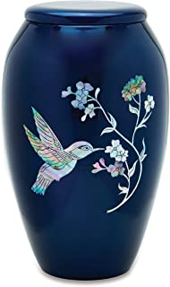 UrnsDirect2U Blue Hummingbird Adult Decorative-urns