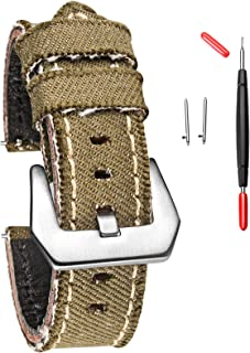 Hemsut Canvas Watch Strap, Casual Watch Bands for Men...