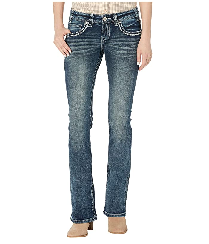 Rock and Roll Cowgirl W6-1001 Rival Bootcut Jeans in Dark Vintage Wash
