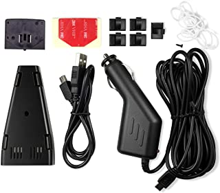 Accessory Kit for A119, A119 v2, A119S Easy Setup Dash Cam Included Mini USB car Charging Cable Adhesive Mount Pads Clips