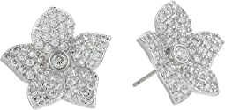Blooming Pave Bloom Studs Earrings