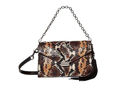 AllSaints Miki Sliver Crossbody (Brown) Handbags