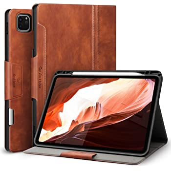 Antbox Case for iPad Pro 11 2020&2018 2nd Generation Cover with Built-in Apple Pencil Holder Auto Sleep/Wake Function PU Leather Smart Cover