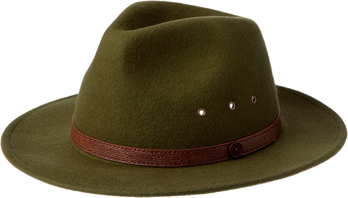 Billy Bones Club Jungle Fedora, Green, Medium