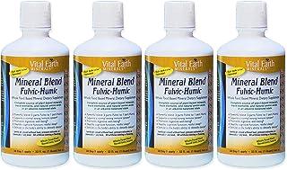 Mineral Blend Fulvic- Humic 32 Fl Oz (4 Pack) Liquid Ionic Trace Mineral Supplement by Vital Earth Minerals