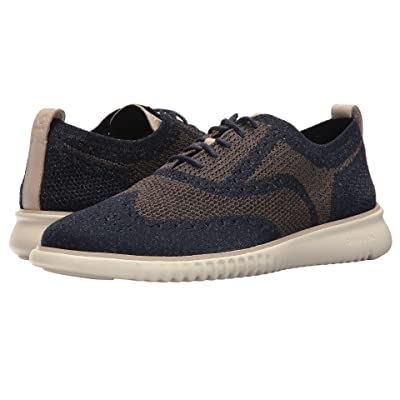Cole Haan 2.Zerogrand Stitchlite Oxford (Navy Peony/Morel) Men