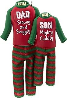 Hallmark Keepsake Ornament 2019 Year Dated Dad and Son Matching Christmas Pajamas, Fabric, 12