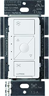 Lutron Caseta Smart Home Celing Fan Speed Control Switch, Works with Alexa, Apple HomeKit, and the Google Assistant |PD-FSQN-WH | White