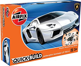 Airfix Quickbuild Lamborghini Aventador White Snap Together Plastic Model Kit J6019