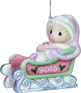 Precious Moments Baby's First Christmas-2015 Girl Ornament