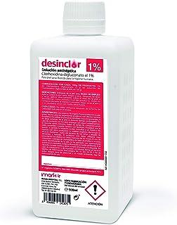 comprar comparacion Solución Acuosa Coloreada Clorhexidina 1%, Limpieza de Manos, Desinfección Cuerpo, Piel Sana - 500 ml