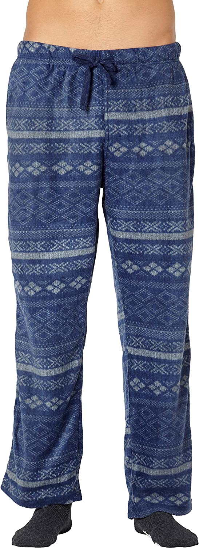 Max Deco Men's Blue Nordic Fleece Pajama Pants