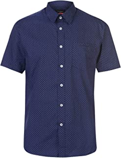 Pierre Cardin Mens Short Sleeve Shirt Collared Breathable
