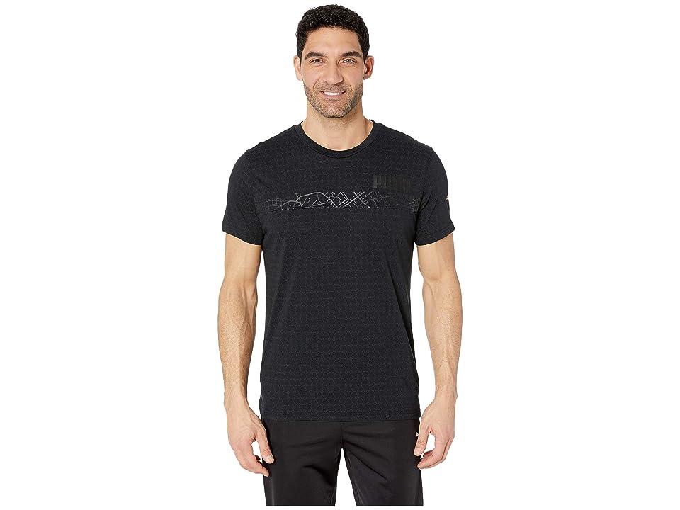 PUMA NRG Tri-Blend Graphic T-Shirt (PUMA Black) Men