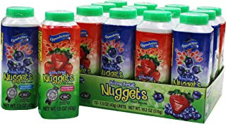 12 Fruit Nuggets Mini Bottles Strawberry and Orange Flavor Kosher Vitamin C Real Juice All Natural Flavors Gluten Free - By Au'some