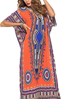 1aa40a8019 Buauty Caftan Dresses for Women V Neck Long Kaftan Cover Up Summer Maxi  Dress Plus Size