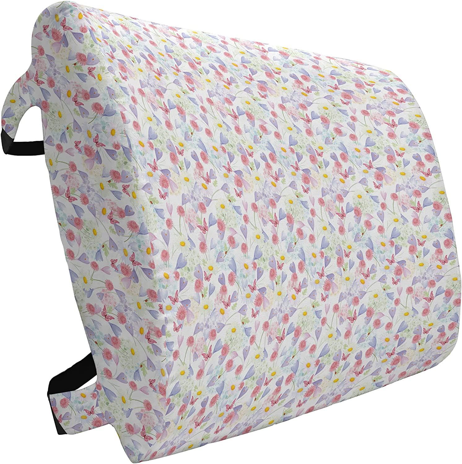 Lunarable Floral Lumbar Max 60% Be super welcome OFF Pillow Dreamy Butterf Flourishes Summer