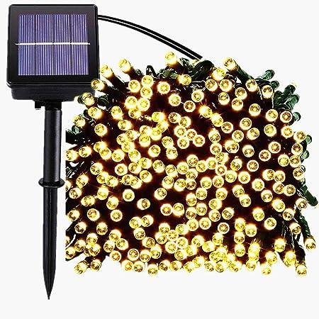 10//22M Fairy Xmas String Lights Solar 200LED Outdoor Garden Decor Lamp Colorful