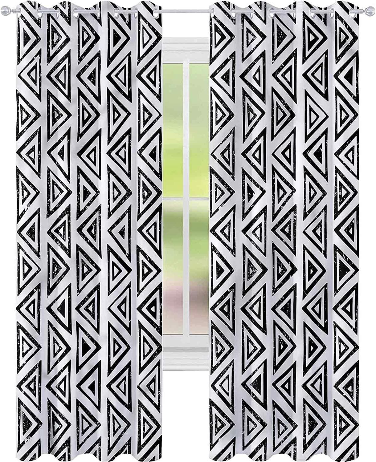 Window Curtain Drape Abstract Geometric x Aztec Shipping included Culture L72 Max 66% OFF W42