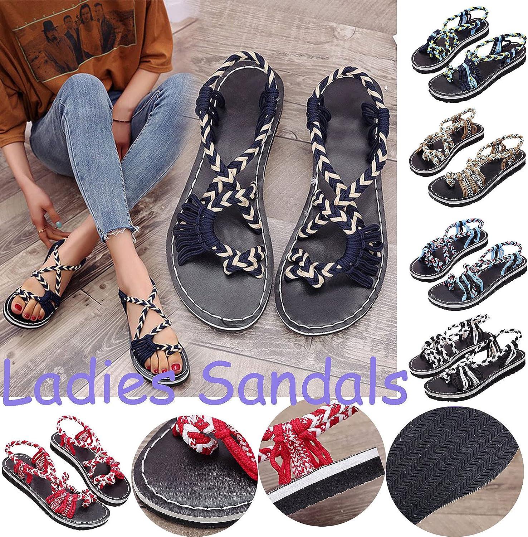2021 Summer Gladiator Sandals for Women Flat | Fisherman Cross Strappy Sandals | Roman Ankle Strap Sandals | Fashion Strappy Design Rubber Non-Slip Slide Sandals