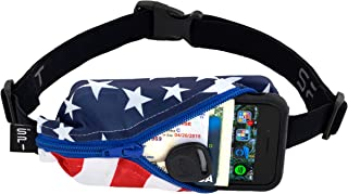 Running Belt Original Pocket, No-Bounce Waist Bag for Runners Athletes Men and Women fits Smartphones iPhone 6 7 8 X Workout Fanny Pack Expandable Sport Running Pouch Adjustable One Size