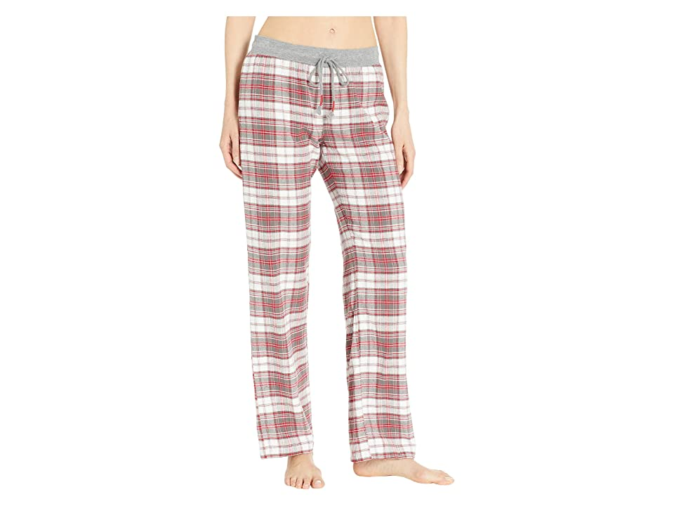 P.J. Salvage Oh Holiday Plaid Pants (Ivory) Women