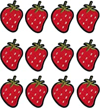 Pack of 20 Mini Strawberry Embroidered Sew Iron On Patch
