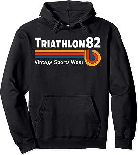 Retro Vintage Triathlon & Triathlete Clothing - Triathlon Pullover Hoodie