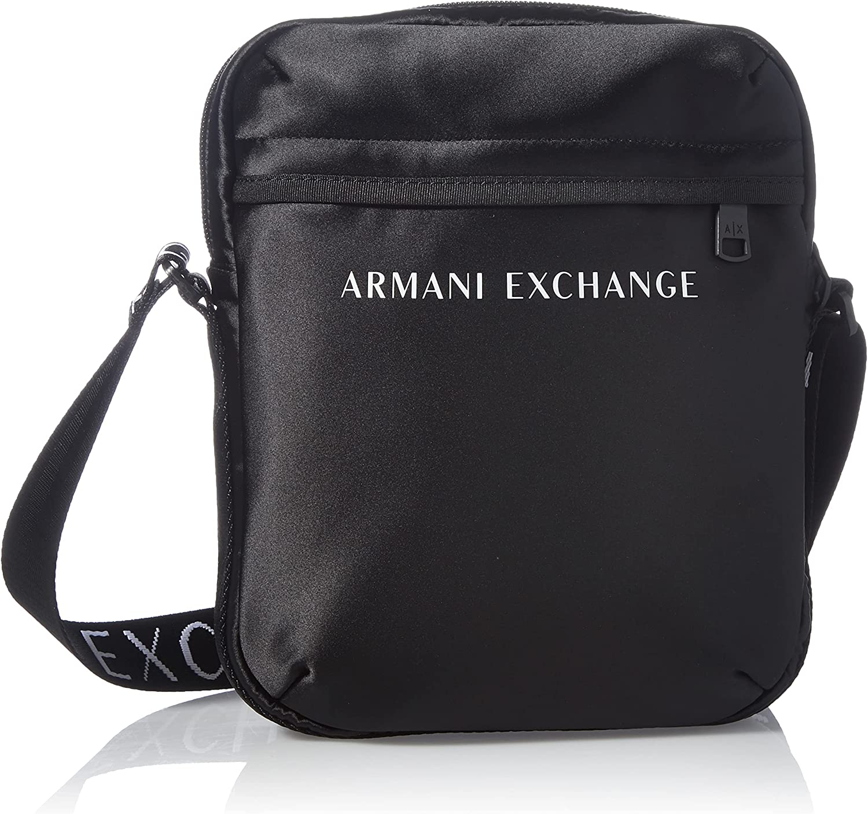 AX Armani Exchange Nylon Flat Crossbody Logo Strap
