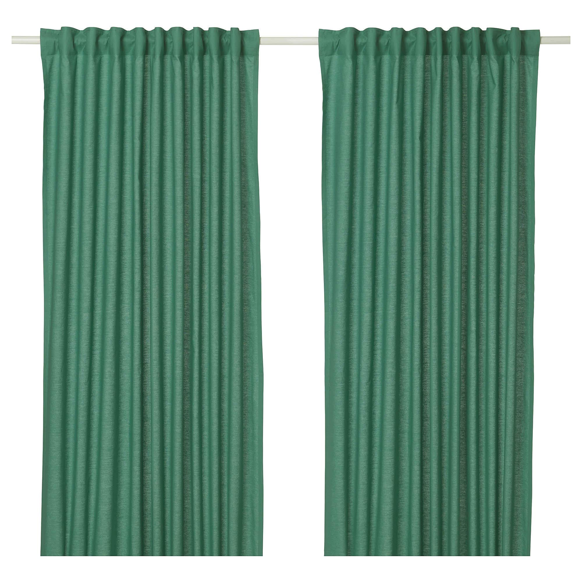 IKEA ASIA ANNALOUISA - Cortinas (1 par), Color Verde: Amazon.es: Hogar