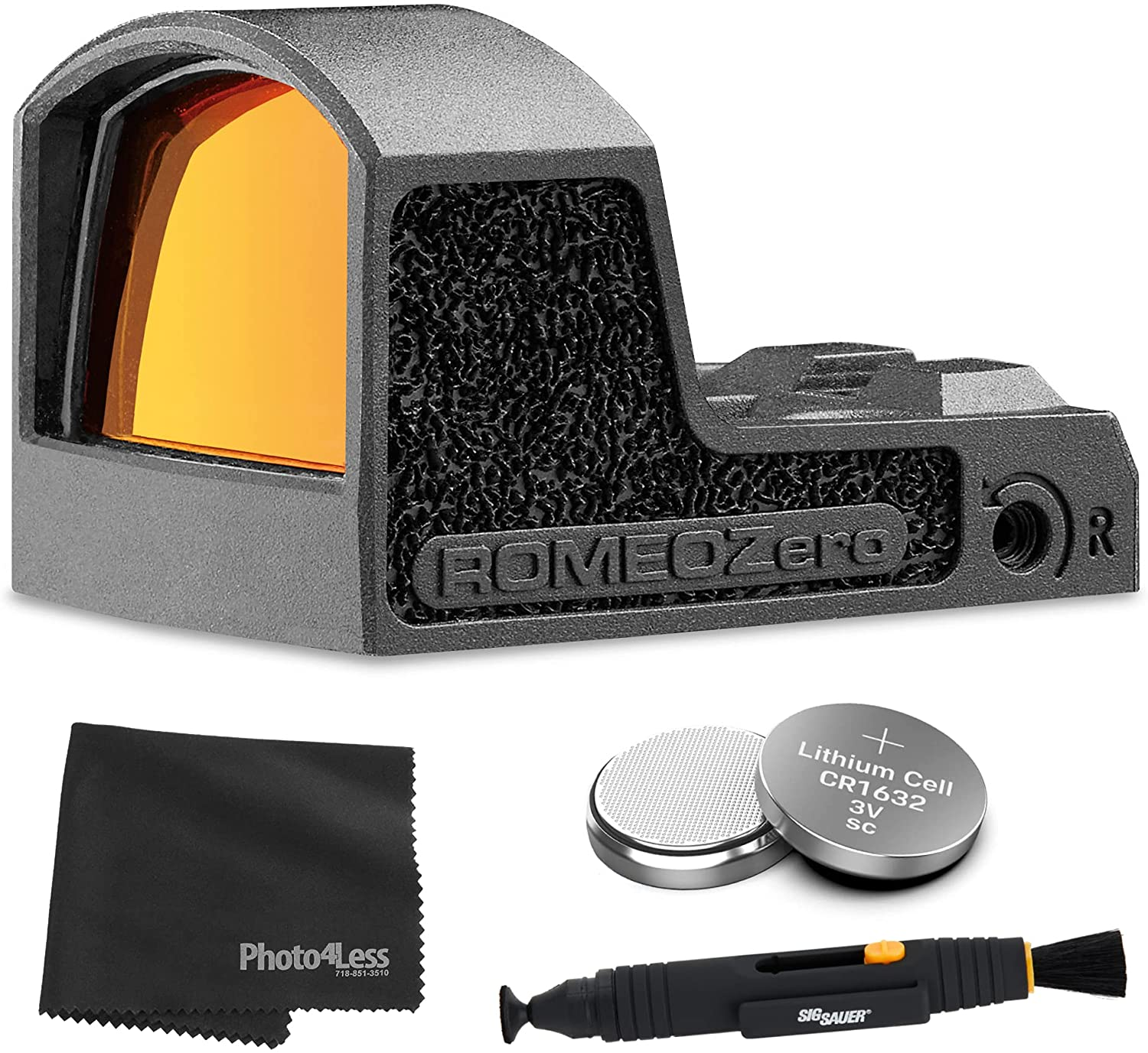 Sig Sauer Romeo Zero 1X18mm 3 MOA Reflex Red Dot Sight + Extra Batteries + Lens Cleaning Kit : Sports & Outdoors