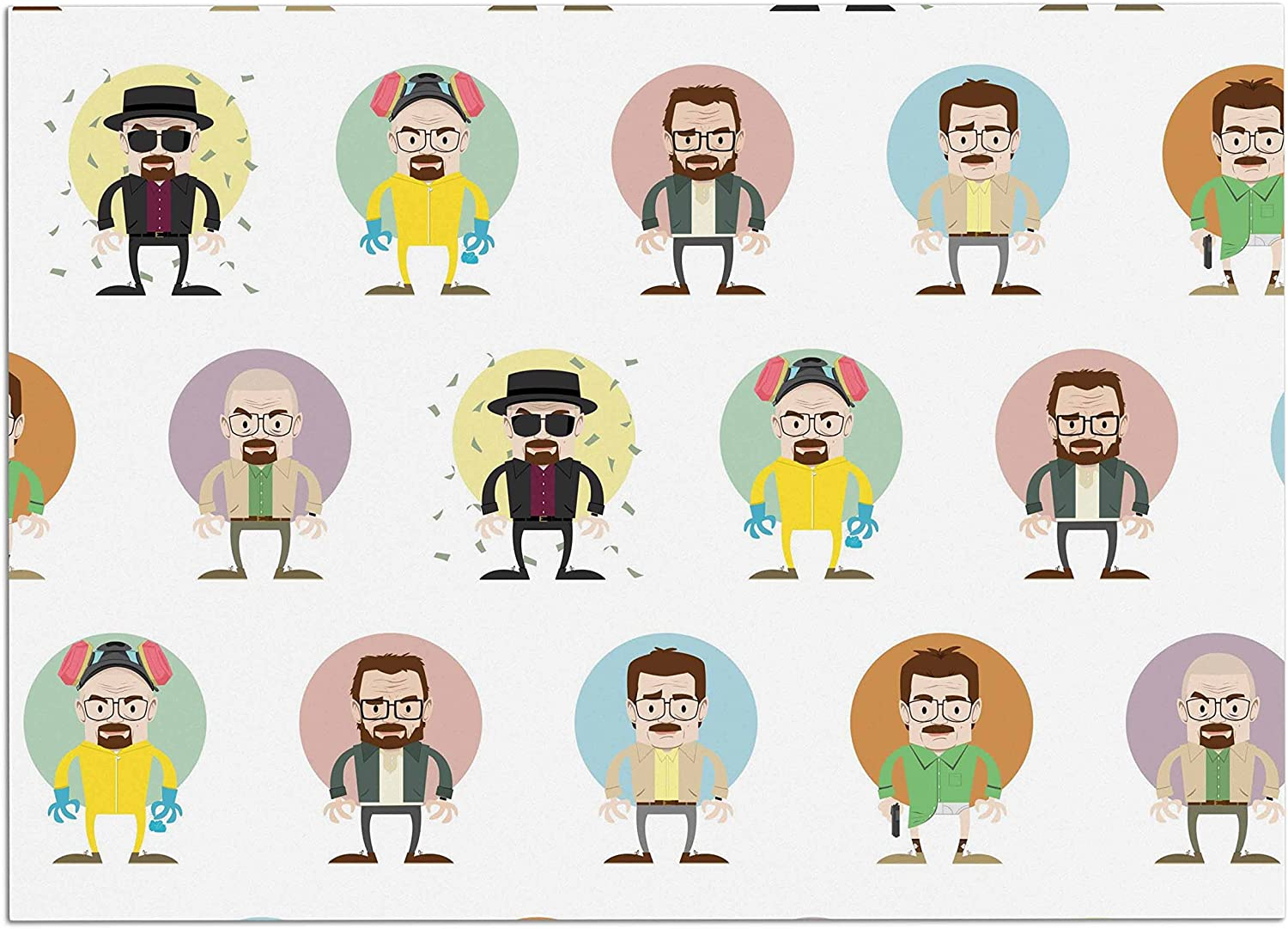 KESS InHouse PO1005ADM02 Juan Paolo The Stages of Walter White Breaking Bad Dog Place Mat, 24  x 15