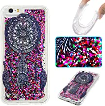 iPhone 6 Case, iPhone 6S Case, Ranyi [Liquid Case Glitter] [Funny Pattern] [Glitter&Liquid Move Around] Flowing Liquid Glitter Bling Sparkle Quicksand Case for Apple iPhone 6/6S (Black Bell)