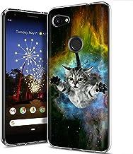 MOBIFLARE Slim Case for Google Pixel3AXL / Pixel 3AXL, Not for Pixel 3 / Pixel 3A / Pixel 3XL, Galaxy Cat Design Light, Flexible, Corner Protection