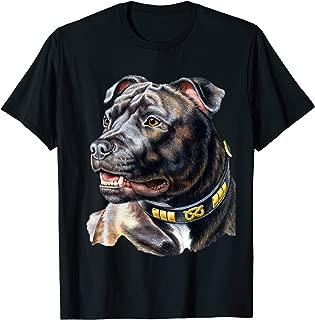 Face Portrait American Staffordshire Bull Terrier Dog Lover T-Shirt