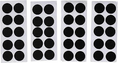 Kraftmann 80557   klittenband   40-delig   Zelfklevend   zwart   Ø 20 mm   plakpunten