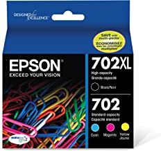 Epson T702XL-BCS DURABrite Ultra Black High Capacity and Color Combo Pack Standard Capacity Cartridge Ink