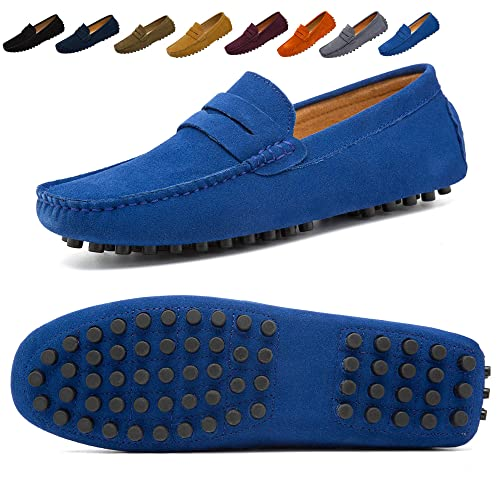 1ffcc2fdcc2 Go Tour Men s Penny Loafers Moccasin Driving Shoes Slip On Flats Boat Shoes