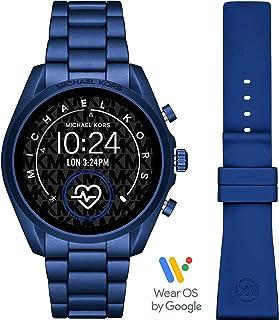 ساعة ذكية برادشو الجيل الخامس بعرض رقمي ومينا متعدد الالوان وسوار من الالمنيوم للنساء من مايكل كورس - MKT5102