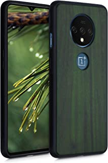 kwmobile 対応: OnePlus 7T 木製ケース - 木製 携帯ケース TPUバンパー - ナチュラル ウッド スタイル