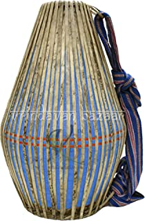 Pro Khol/Mridangam made of Clay with free cloth cover- VRINDAVANBAZAAR.COM (BLUE)