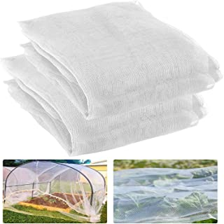 2 Pack 9.8 ft x 6.5ft Garden Insect Screen - Insect Barrier Netting Mesh Bird Netting Garden Plant Cover for Protecting Pl...