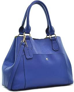 Saffiano Faux Leather Satchel Handbag Large Travel Tote Bag w/Shoulder Strap