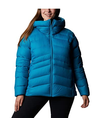 Columbia Plus Size Autumn Park Down Hooded Jacket (Fjord Blue/Dark Nocturnal) Women