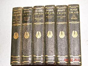 Mark Twain: 6 VOLUME SET ; Huckleberry Finn, Pudd'nhead Wilson, the Adventures of Tom Sawyer, the Prince and the Pauper, a Connecticut Yankee Etc., Life on the Mississippi. (authorized edition)