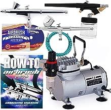 PointZero Airbrush Dual Action Airbrush Kit with 3 Airbrushes